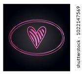 simple vector hearts icon | Shutterstock .eps vector #1022147569