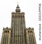 palace of culture and science... | Shutterstock . vector #1022149936