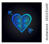 simple vector heart icon | Shutterstock .eps vector #1022151640