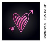 simple vector heart icon | Shutterstock .eps vector #1022151784