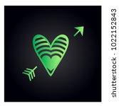 simple vector heart icon | Shutterstock .eps vector #1022152843