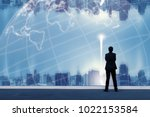 vision concept. successful... | Shutterstock . vector #1022153584