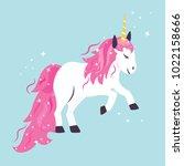 vector illustration of cute... | Shutterstock .eps vector #1022158666