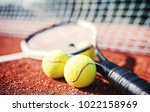 tennis game. tennis ball with... | Shutterstock . vector #1022158969