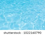 blue and bright water in...   Shutterstock . vector #1022160790