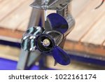 the part of the propeller of a... | Shutterstock . vector #1022161174