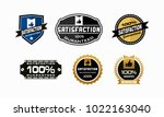 satisfactions guaranteed set of ... | Shutterstock .eps vector #1022163040