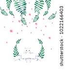 beautiful cat   illustration.... | Shutterstock . vector #1022166403