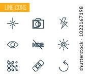 picture icons line style set... | Shutterstock .eps vector #1022167198