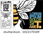 set of honey banners design... | Shutterstock .eps vector #1022170189