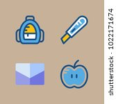 icons education and school with ... | Shutterstock .eps vector #1022171674