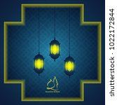 ramadan greetings background | Shutterstock .eps vector #1022172844