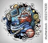 cartoon vector doodles jokey... | Shutterstock .eps vector #1022174230