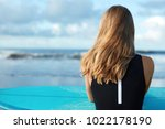 unrecognizable female with... | Shutterstock . vector #1022178190