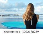 outdoor shot of dreamy sporty... | Shutterstock . vector #1022178289