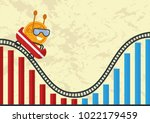 economic cycle or changes in... | Shutterstock .eps vector #1022179459