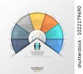 circular diagram or pie chart... | Shutterstock .eps vector #1022179690