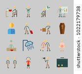 icons about human with