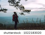 women asians travel relax in...   Shutterstock . vector #1022183020