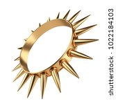 golden ring with thorns. very... | Shutterstock . vector #1022184103