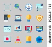 icons about seo with coding ... | Shutterstock .eps vector #1022184718