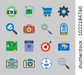 icons about commerce with... | Shutterstock .eps vector #1022184760