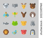 icons about animals with wasp ... | Shutterstock .eps vector #1022185960