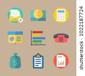 icons marketing with money bag  ... | Shutterstock .eps vector #1022187724