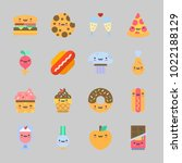 icons about food with hot dog ... | Shutterstock .eps vector #1022188129
