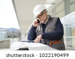 engineer working on outdoor... | Shutterstock . vector #1022190499