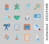 icons about science with wiring ... | Shutterstock .eps vector #1022191408
