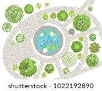 vector illustration. landscape... | Shutterstock .eps vector #1022192890