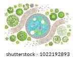 vector illustration. landscape... | Shutterstock .eps vector #1022192893
