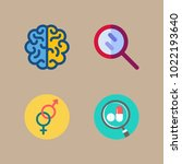 icons medical with brain ... | Shutterstock .eps vector #1022193640