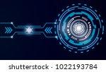vector illustration white gear... | Shutterstock .eps vector #1022193784