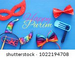 purim celebration concept ... | Shutterstock . vector #1022194708
