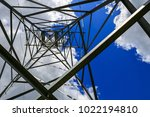 the electricity transmission... | Shutterstock . vector #1022194810