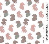 little cute hare. vector flat...   Shutterstock .eps vector #1022196328