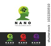 human nano technology logo.... | Shutterstock .eps vector #1022203510