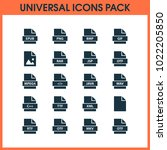 document icons set with file ... | Shutterstock . vector #1022205850