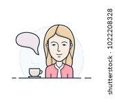 call center operator. chat... | Shutterstock .eps vector #1022208328