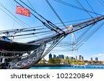 Boston Skyline Framed By The...