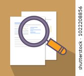 analysis and investigation... | Shutterstock .eps vector #1022208856