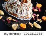 fruit cake dessert fig and... | Shutterstock . vector #1022211388