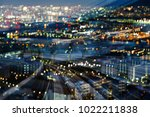 double night blurred light... | Shutterstock . vector #1022211838