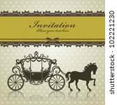 vintage luxury carriage design | Shutterstock .eps vector #102221230