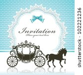 vintage luxury carriage design | Shutterstock .eps vector #102221236