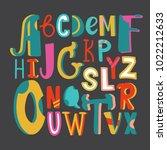 english alphabet vector ... | Shutterstock .eps vector #1022212633