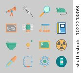 icons about science with mortar ... | Shutterstock .eps vector #1022213398