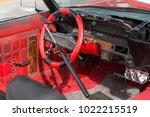steel steering wheel lock   bar ... | Shutterstock . vector #1022215519